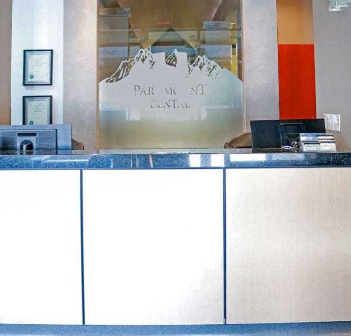 Reception Area   Paramount Dental   North Calgary   Family and General Dentist